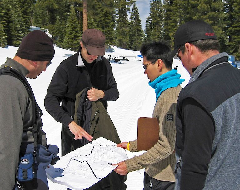 Mark Hornberger and team at the Ritz-Carlton Lake Tahoe site.
